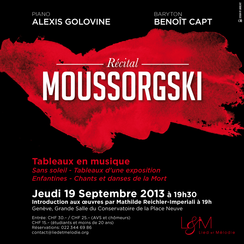 Flyer Recital Lied & Melodie 19 septembre 2013