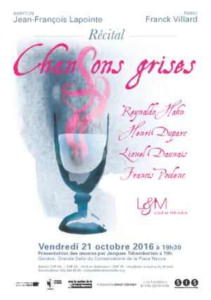 Recital Chansons Grises - 21 octobre 2016 - Lied et Melodie