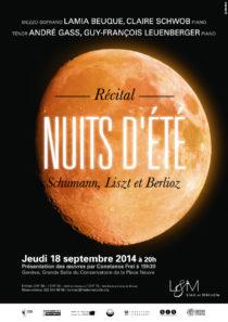 Recital Nuits d'ete-18septembre2014-Liedetmelodie