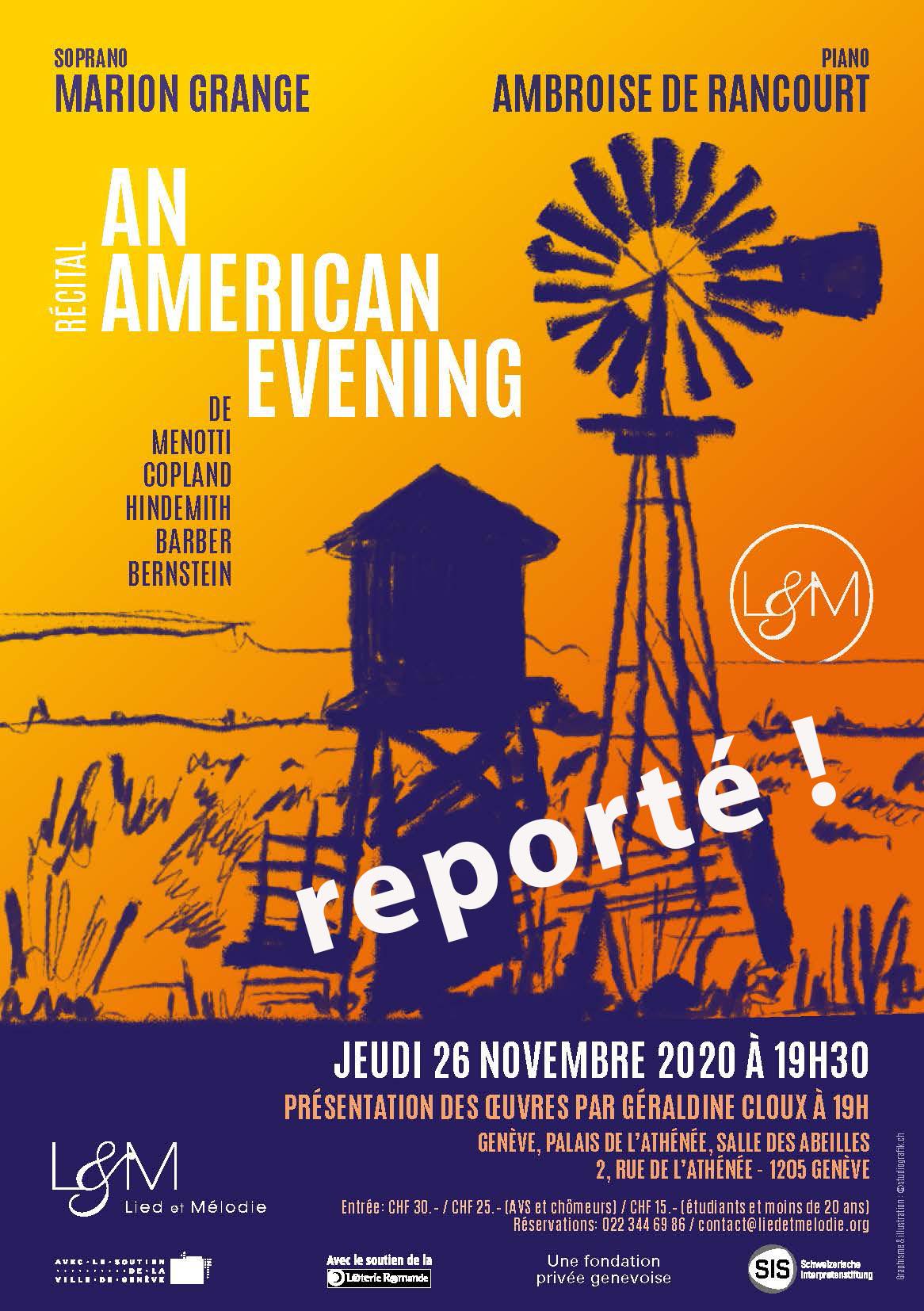 Récital du 26 novembre 2020 à 19h30